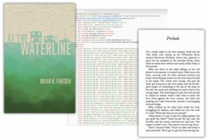 At the Waterline image showing cover, content.opf file and page from ebook